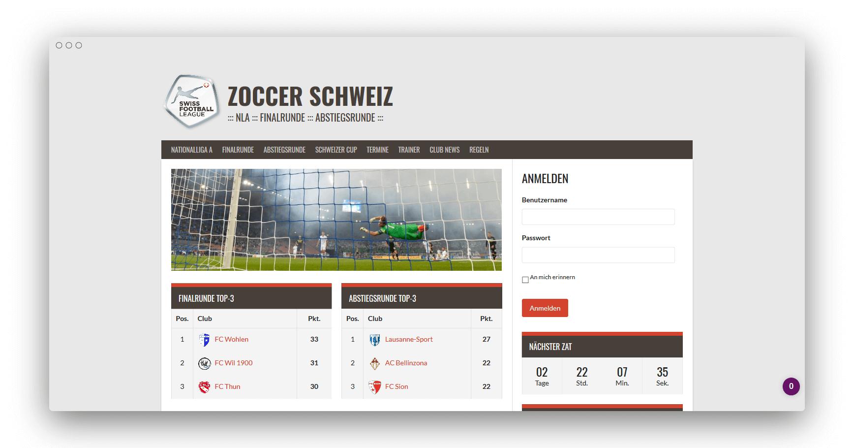 ZOCCER Schweit NLA