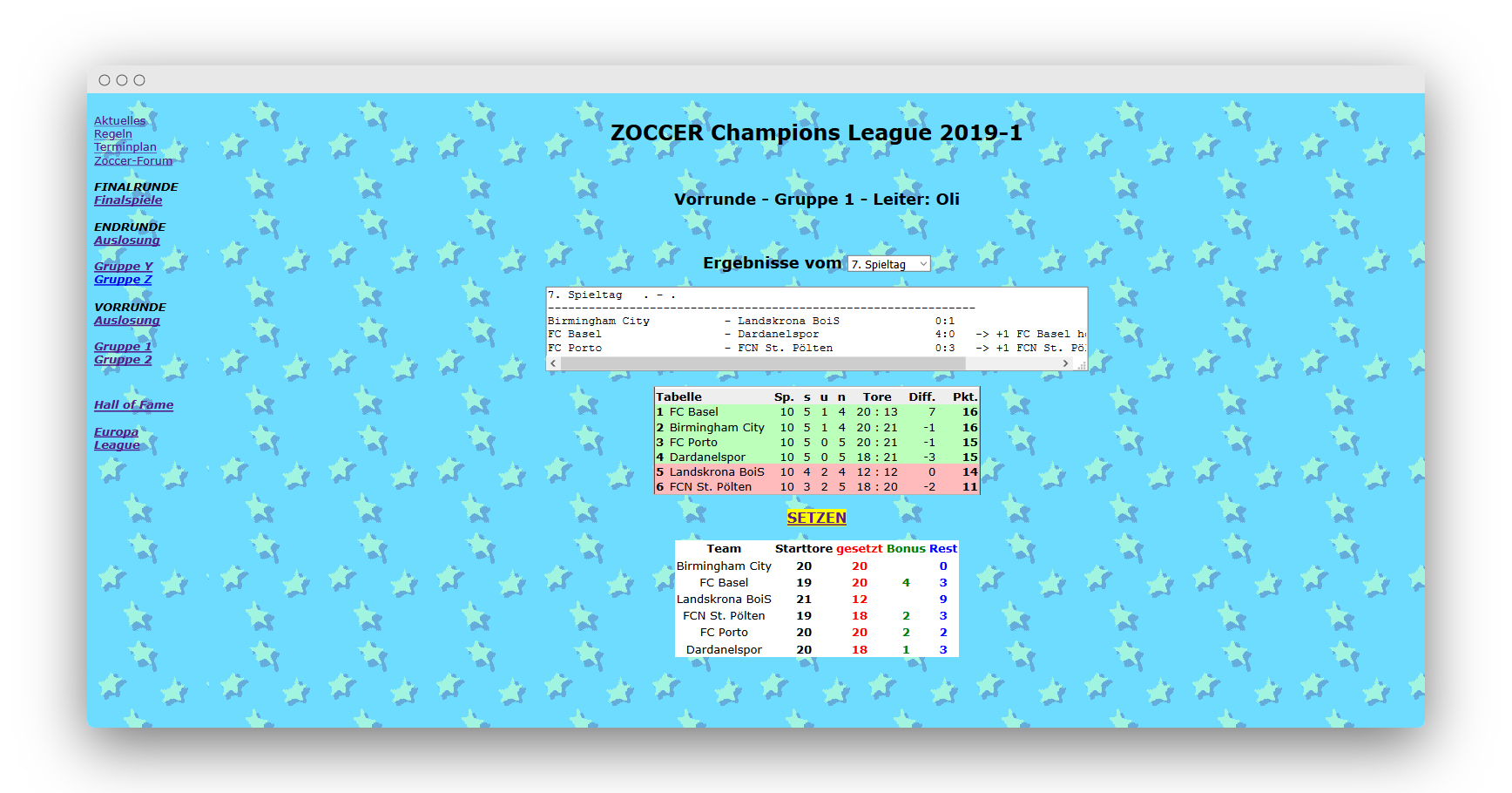 ZOCCER Champions League