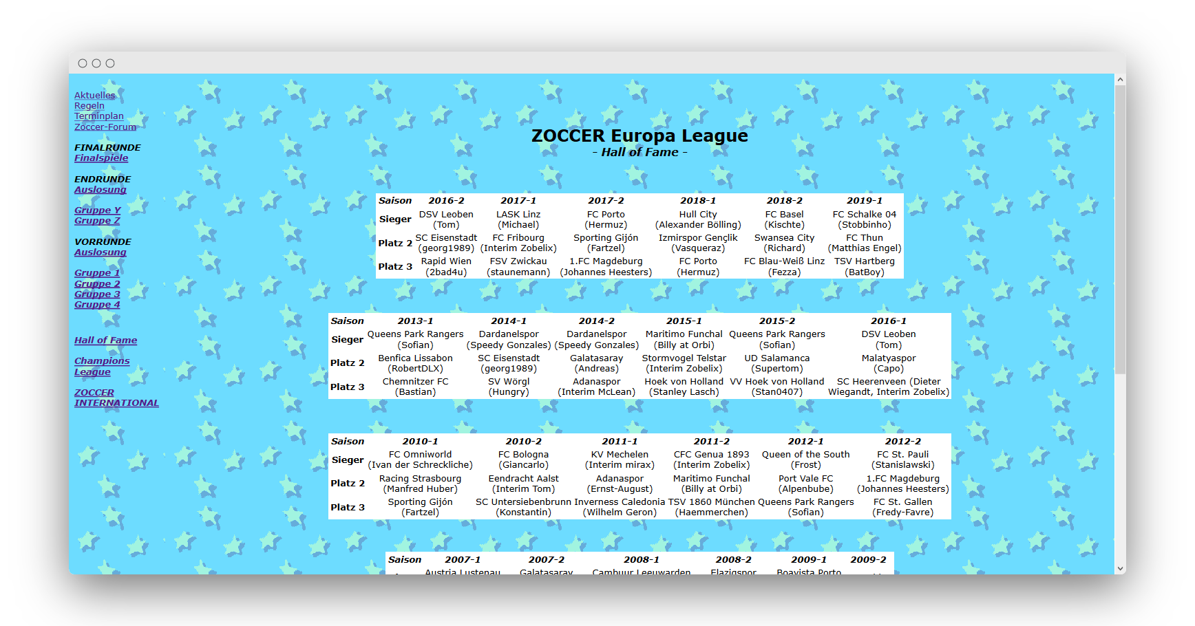 ZOCCER Europa League